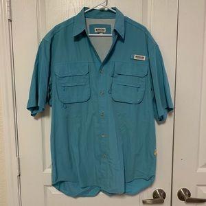 Men's Magellan Blue Fishing Shirt! Size XL